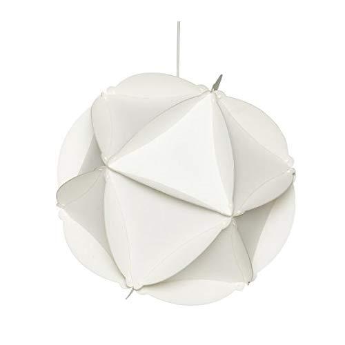 Hubsch Funky Design - Lámpara redonda de plástico (tamaño grande), color blanco