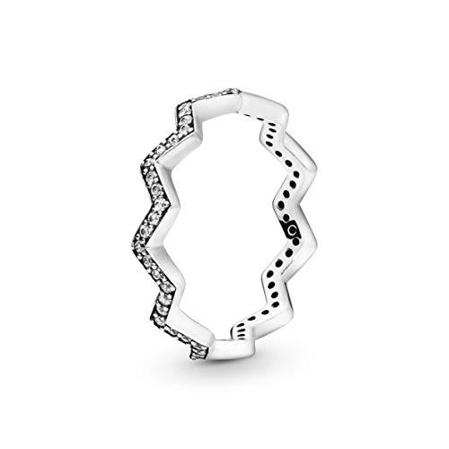 Pandora Damen-Stapelring 925 Sterlingsilber zirkonia Ringgröße 60 (19.1) 197751CZ-60