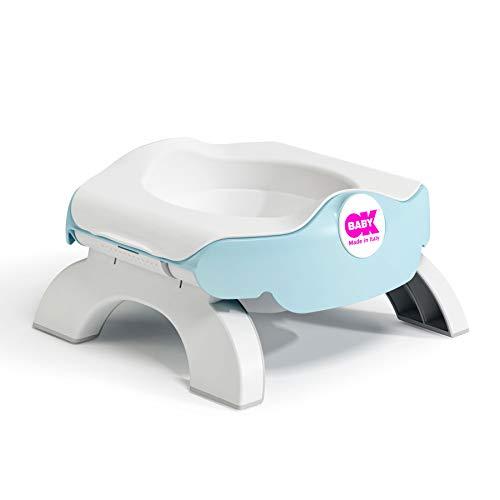 OKBABY Roady - Vasino e Riduttore WC per Bambini Pieghevole, si Usa anche in Viaggio - Azzurro