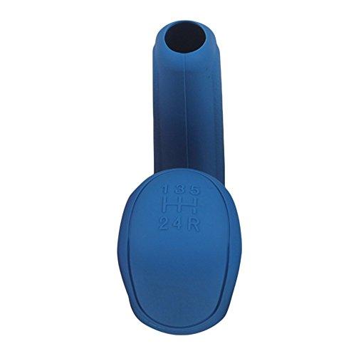 Livecity Auto Styling Handbremsgriffe Innen Schaltmanschette Silikon Schaltknauf Abdeckung Werkzeug (Blau)