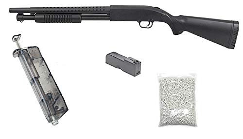 KOSxBO realistische Airsoft Schrotflinte, schwarz - Länge 920mm- Kaliber 6mm -