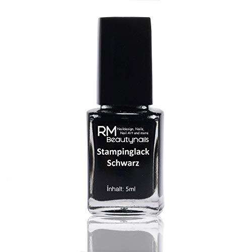 5ml Stampinglack Schwarz Stamping Lack Nagellack Nail Polish RM Beautynails