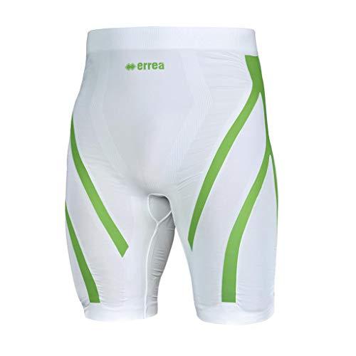 Errea Bermuda Ergo Active Tense - Pantalón corto, color blanco y verde Bianco Verde XL/XXL