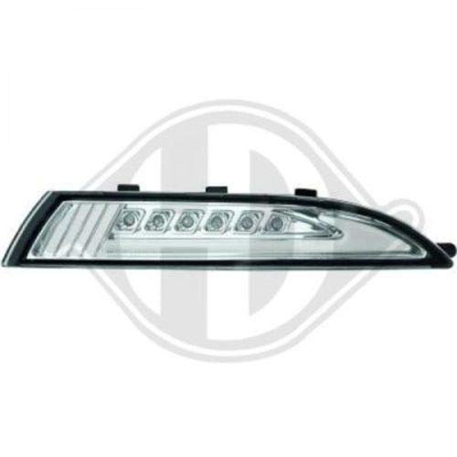 clignotant LED SCIROCCO, 08->> cristal/chrome avec feu position, LIGHTBAR DESIGN