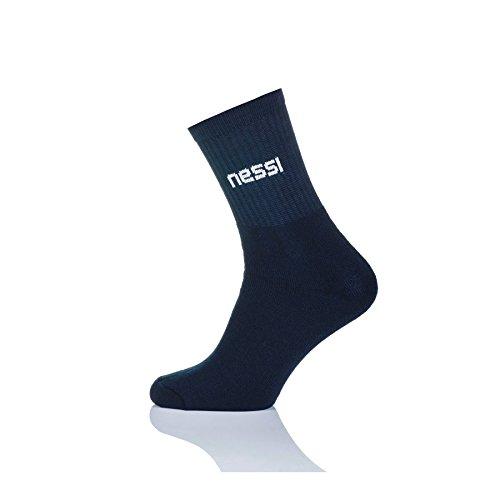 Nessi chaussettes de tennis f laufsocken plus funky cyclisme chaussettes en coton Bleu Bleu 42-44