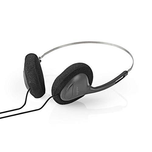 TronicXL Ligeros auriculares con cable jack de 3,5 mm, diadema con cable,...