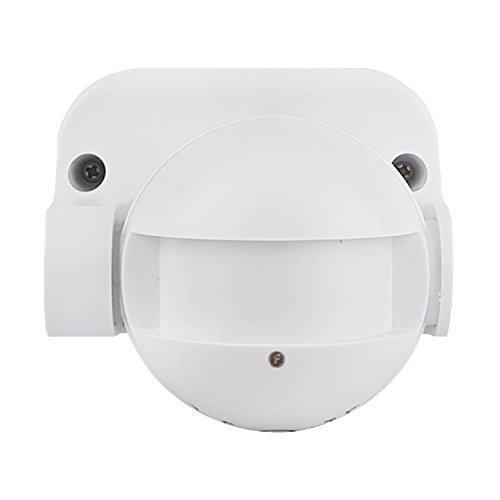 HUBER MOTION 60HF Radar Bewegungsmelder 180° Innen/Außen Bewegungssensor IP44 I 230V Bewegungsmelder LED geeignet, vertikal verstellbar, weiß