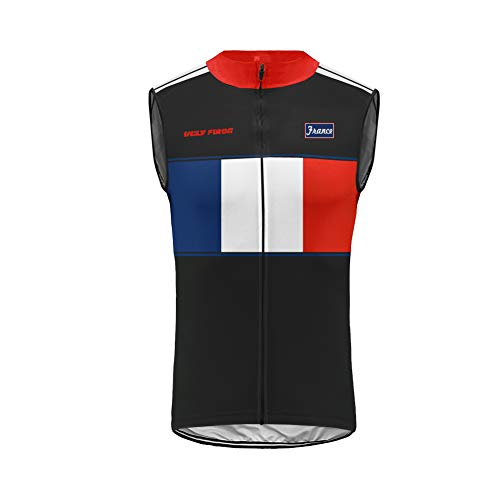 Uglyfrog - Cycling Vest Camiseta de Ciclismo para Hombre, de Sin Mangas, Reflectante, Transpirable y...