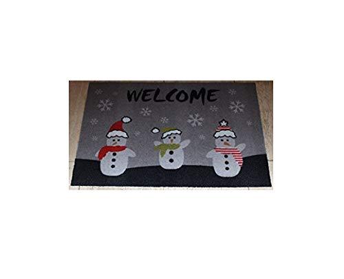 Paillasson de Noël – Welcome – Bonhomme de neige – Beige – Paillasson – Paillasson – Paillasson – Paillasson – Paillasson – Paillasson – Paillasson – Paillasson – env. Dimensions : 40 x 60 cm