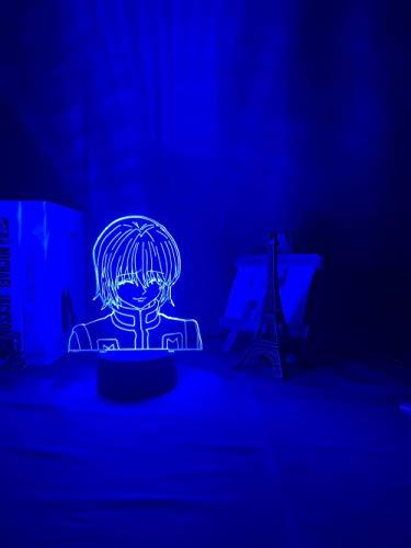 3D Night Lamp Kurapika Figure Acrylic Night Light Anime Gift Lamp for Kid Bedroom Decor Lighting Childrens Room Nightlight HxH