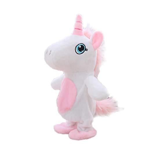 shentaotao El Movimiento Y Hablar del Unicornio Juguetes Repite Lo Que Usted Dice Interactivo Juguetes De Peluche Lindo del Unicornio Muñecas Juguetes Ruta 1pc