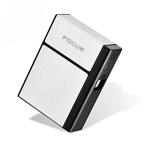 Caja De Cigarrillos Con Encendedor EléCtrico, Caja De Tabaco, Usb Recargable, Encendedor...