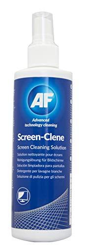 AF Screen-Clene Pump Spray Pantallas / Plásticos Líquido y paños secos/húmedos para limpieza de equipos - Kit de limpieza para ordenador (Líquido y paños secos/húmedos para limpieza de equipos, Pantallas / Plásticos)