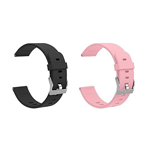 Pulsera de actividad física con monitor de ritmo cardíaco, para hombre y mujer (Pink+Black)