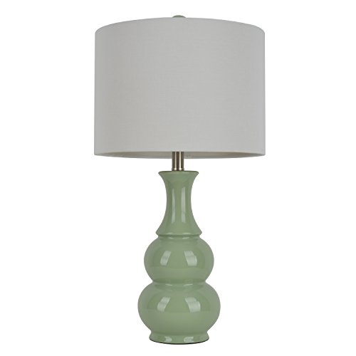 """Décor Therapy TL7906 26.5"""" Ceramic Table Lamp, Green"""