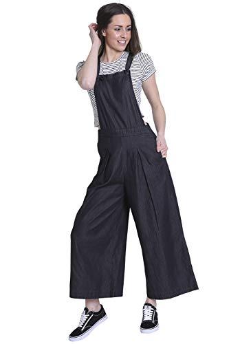 Wash Clothing Company damesbroekrok met wijde pijpen - zwart Bib Culottes BLUEBELLBLK