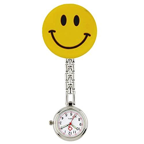LLRR Reloj Médico de Bolsillo Colgante,Reloj de Bolsillo Animal Lindo de la Enfermera General de los Hombres y de Las Mujeres,Suave-3 de la Mesa Colgante del Clip del Doctor,Reloj Médico de Colores