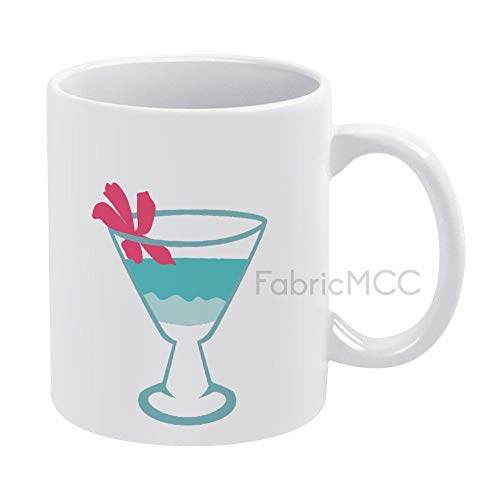 Funny Coffee Mug, Cocktail Blue Hawaiian Mug, Best Gifts for Dad Mom, Best Dad Gifts Dads Coffee Mug, 11 oz Coffee Mug