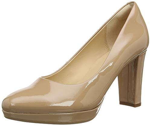 Clarks Damen Kendra Sienna Uniform-Schuh Pumps, Praline Patent, 35.5 EU