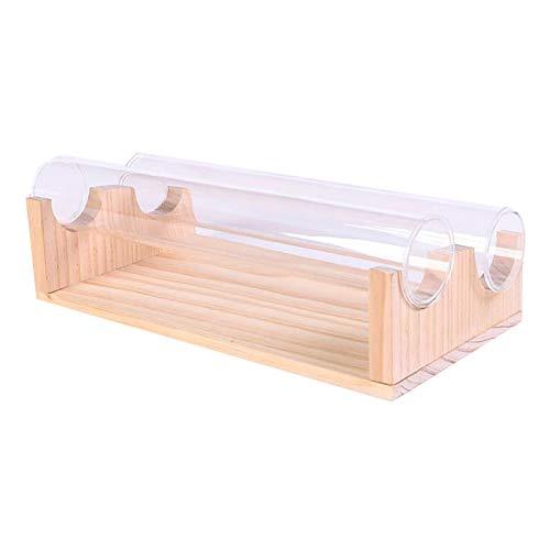 Fransande Pulsera de madera maciza, soporte de exhibición de joyas, soporte de exhibición de relojes, accesorios de almacenamiento de acrílico