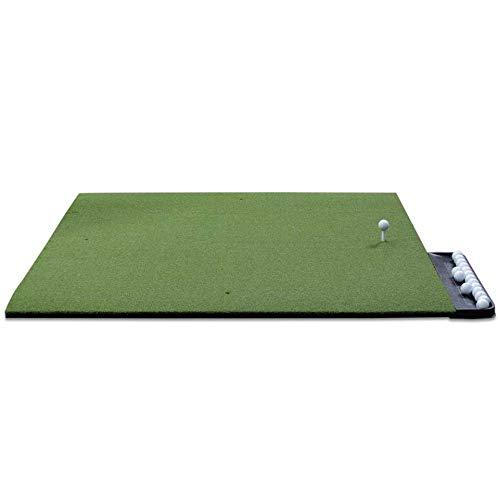 DURA-PRO Commercial Golf Mat - 4x5 Feet Premium Turf Indoor/Outdoor Mat for Hitting & Chipping - Golf Stance Mat for Pros & Beginners w/Golf Accessories (Golf Tray + 3 Rubber Golf Tees)