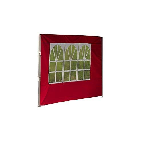 Pannello laterale per gazebo da 3 m, pannello laterale di ricambio, accessorio per tenda da esterni, colore rosso, per campeggio, matrimoni, feste in giardino, tessuto Oxford (solo coprire un lato)