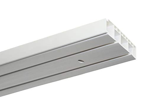 Gardinia Vorhangschienen Set GK2 2-Lauf weiß 150 cm