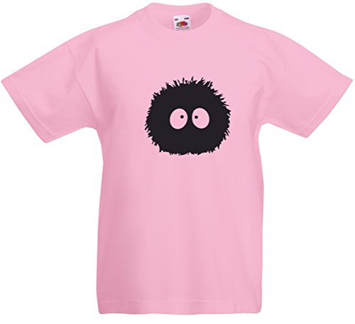 Print Wear Clothing Susuwatari, Enfant T-Shirt imprimé - Rose/Noir 12-13 Ans