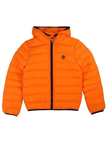 Timberland Daunenjacke mit Kapuze, Nylon, gewachst, wasserabweisend Gr. 16 Jahre, Orange