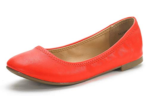 DREAM PAIRS Women s Sole-Happy Coral Ballerina Walking Flats Shoes - 6.5 M US
