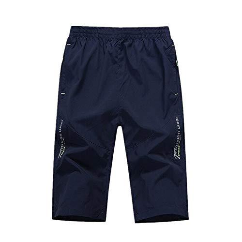 NOBRAND Verano Grande de los Hombres Pantalones Cortos de Chándal Sueltos Medianos Pantalones de Secado Rápido Pantalones de Play