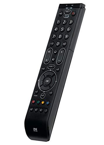 One For All Essence 2 Universal Fernbedienung TV - Steuerung von 2 Endgeräten - TV / Smart TV und Set Top - Funktioniert garantiert mit allen Herstellermarken – URC7120