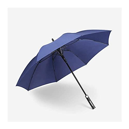 QFUNDAS Anti-UV Doble Golf Paraguas Reforzado a Prueba de Viento Bamboo Bing Men Paraguas automático de Gran tamaño Lluvia y Lluvia Paraguas de Doble Uso Pintura de
