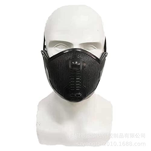 NUWIND Máscara de invierno de media cara Bucky Barnes Soldado Cosplay Disfraz de Halloween Disfraz de Halloween para hombres adultos Prop (Latex B)