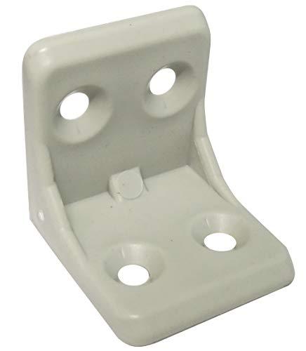 AERZETIX: 50 Escuadras de ángulo Racor Refuerzo plástico Gris para ensamblaje de Muebles Panel 27/27/26mm C41532