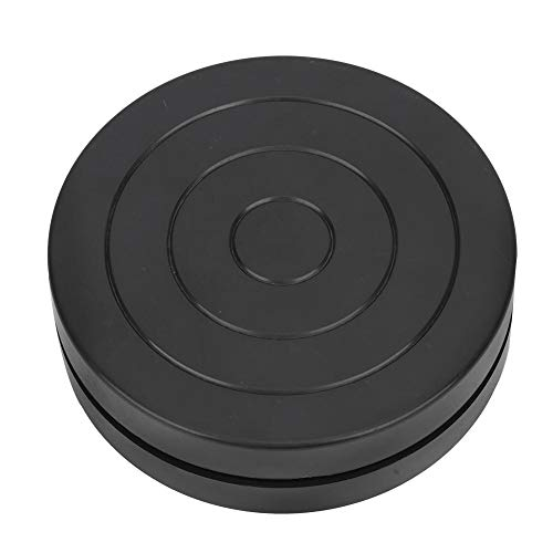 Plato Giratorio de Cerámica Rueda para esculpir 11.5cm de diámetro Plástico Doble lado Rueda de plástico Cerámica Pequeña mesa de rotación de clase de arte