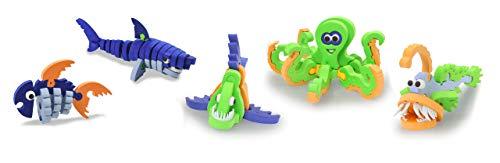 Jamara 460847 3D Soft-Steck Puzzle Sea World-235 Teile, fördert Kreativität, Motorik und gestalterische Freiheit, Modelle ohne Kleben/Werkzeug zusammenstecken