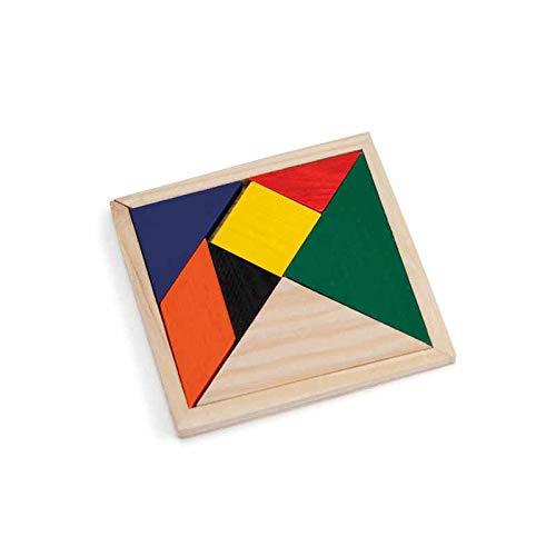 Lote 28 Puzzle Tangram para Desarrollo Mental, Rompecabezas de lógica, Juguetes educativos para niños. Detalles cumpleaños Infantiles, Guarderías, Escuelas y Colegios