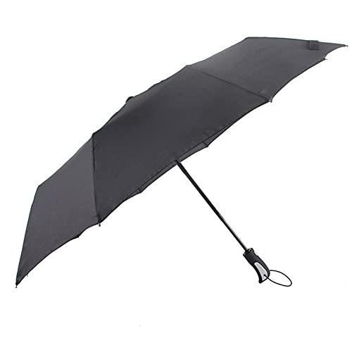 ShenMiDeTieChui Paraguas Diez Huesos Diez Huesos Paraguas Automático Ventana de Emergencia Escape de Emergencia Umbrella Plegable Paraguas Paraguas (Color : Black)