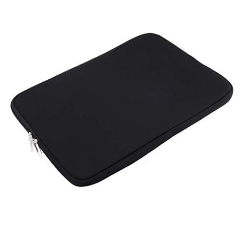 DDyna Neoprene Fashion Style Notebook Laptop Sleeve Case Bag Pouch Storage For Mac MacBook Air Pro 11.6 13.3 15.4 inch - Black - 13.6inch