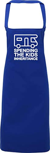 Hippowarehouse Spending The Kids Inheritance - Motorhome Apron kitchen cooking painting DIY onesize adult