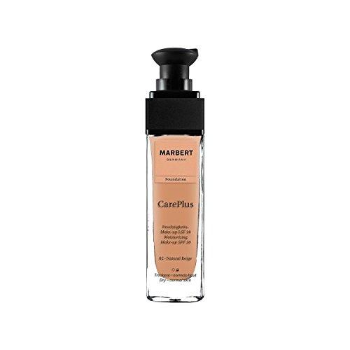 Marbert Care Plus Foundation 02 natural beige (LSF 20), 1er Pack (1 x 30 ml)