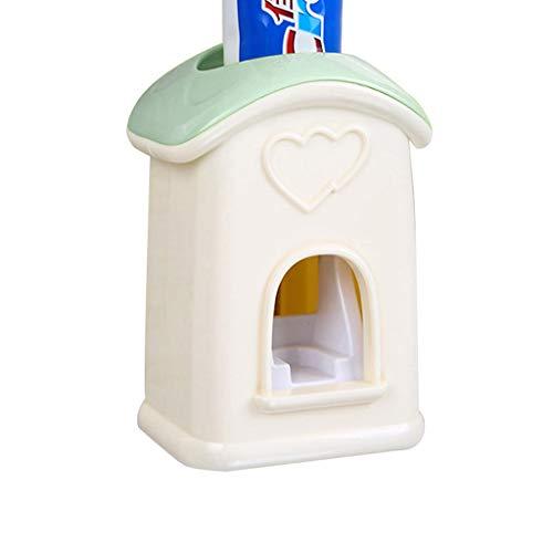 New conveniente montado en la pared dispensador de pasta de dientes automático, dispensador de pasta de dientes automático, resistente al agua y, cepillo de dientes estante libre de polvo, puede ser u