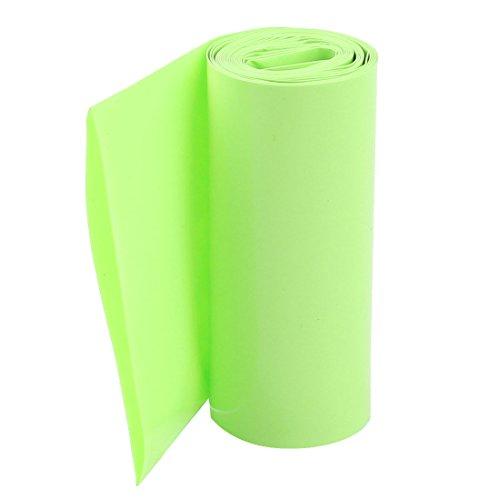 sourcing map Emballage Batterie PVC Thermorétractable Tuyau Tube 85mm Plat Largeur pour 18650 Puissance Fournitures 2m Long Fruit Vert