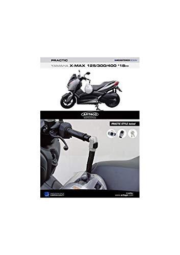 Artago 1650STY Candado Antirrobo Manillar Practic Style con Soporte para Yamaha Xmax 125/300/400 2018 Tricity 300 2020 en adelante