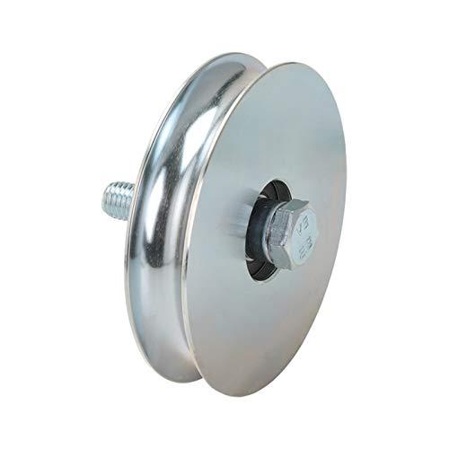 Rueda de puerta correderas y porton diametro 80mm, para perfil en U de 20mm, en acero zincado - MADE IN ITALY - precio e qualidad profesional