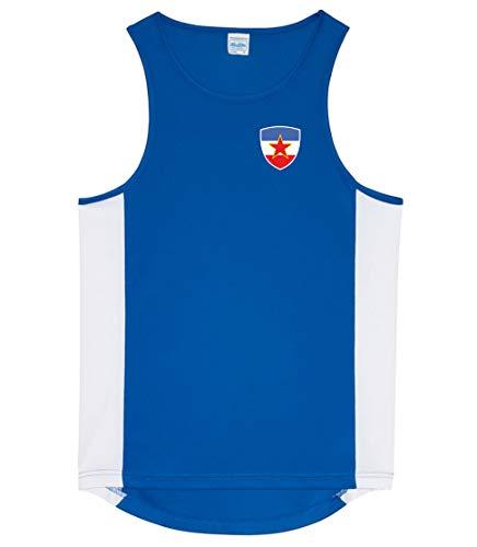 Nation Jugoslawien Tank Top Trikot Ärmellos Sport Fitness ATH BR-B (XL)