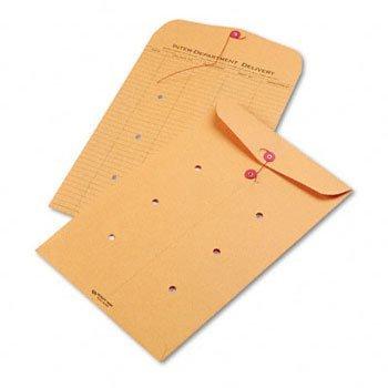 品質ParkTMライトブラウン文字列&ボタンオフィス間封筒クラフト封筒、inter-dept、10?x 15?(パックof2?)