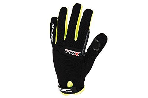 Massi X-Pro Descend - Guantes de Ciclismo Unisex, Color Negro/Amarillo flúor, Talla XL