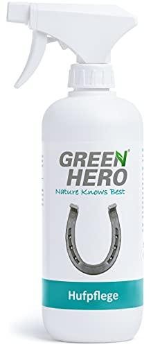 Green Hero Hufpflege für Pferde 500 ml Pflegt Haut und Huf bei Strahlfäule Mauke und Hautverletzungen Strahlpflege Huf Pflege Spray auf natürlicher Basis Made in Germany